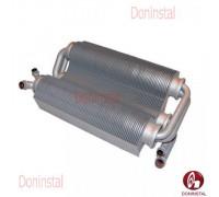 Теплообменник битермический на газовый котел Ferroli Domicompact (короткий)39817500