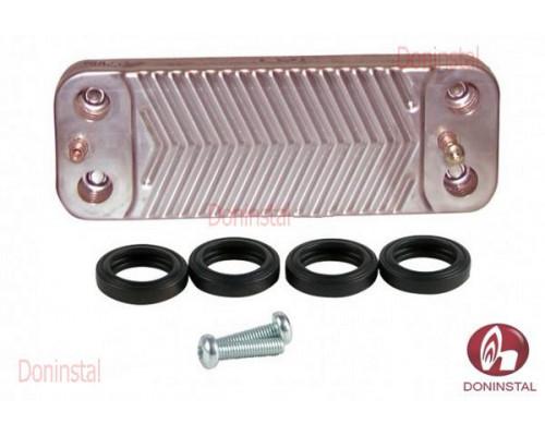 Вторичный теплообменник 10 пластин на газовый котел Saunier Duval ThemaClassic, Combitek, Semias1005800